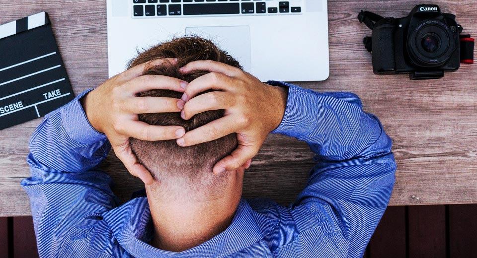 Kopfschmerzen bei der Arbeit
